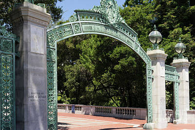 Photograph - University Of California Berkeley Historic Sather Gate Dsc4080 by Wingsdomain Art and Photography
