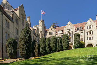 Photograph - University Of California Berkeley Historical Bowles Hall College Dormatory Dsc4733 by Wingsdomain Art and Photography