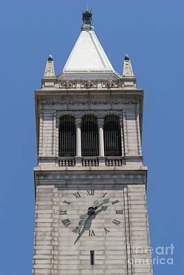 University Of California Berkeley Sather Tower The Campanile Dsc4046 Print by Wingsdomain Art and Photography