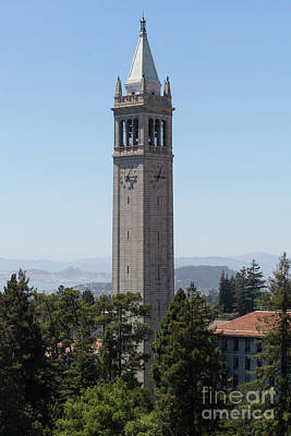 Photograph - University Of California Berkeley Sather Tower The Campanile Dsc4132 by Wingsdomain Art and Photography