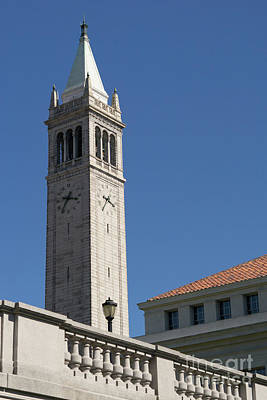 Photograph - University Of California Berkeley Sather Tower The Campanile From The Doe Library Dsc4722 by Wingsdomain Art and Photography