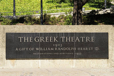 Photograph - University Of California Berkeley William Randolph Hearst Greek Theatre Dsc4726 by Wingsdomain Art and Photography