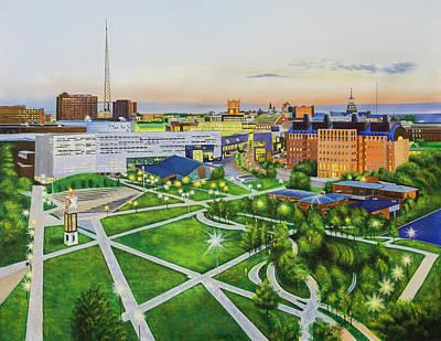 University Of Cincinnati  Art Print by Colm Hutchinson