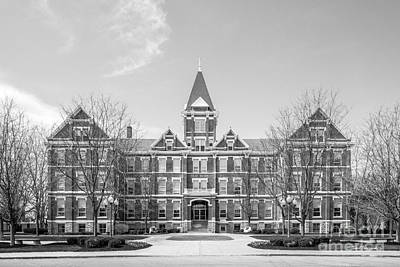 University Of Findlay Old Main Art Print by University Icons