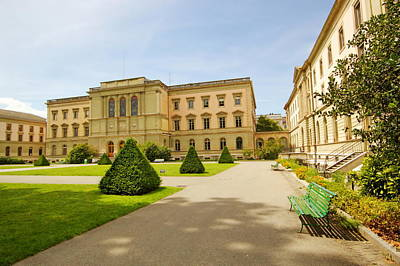 Photograph - University Of Geneva Building In The Bastions Park, Switzerland. by Elenarts - Elena Duvernay photo