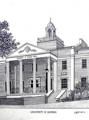 Drawing - University Of Georgia by Frederic Kohli