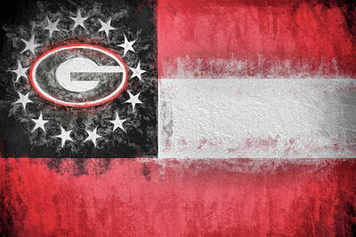 Digital Art - University Of Georgia State Flag by JC Findley