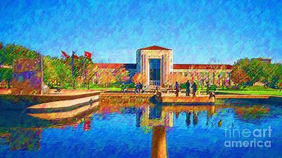 University Of Houston  Art Print
