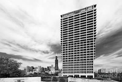 Uic Photograph - University Of Illinois At Chicago University Hall  by University Icons