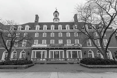 Photograph - university of Illinois Hall Black and White  by John McGraw
