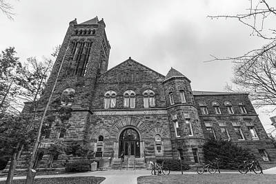 Photograph - University Of Illinois Law Library Black And White  by John McGraw