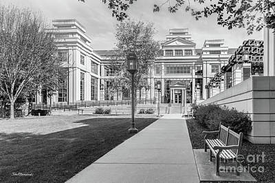 Photograph - University Of Iowa Business School Coutryard by University Icons
