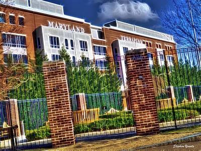 Champion Digital Art - University Of Maryland - Byrd Stadium by Stephen Younts