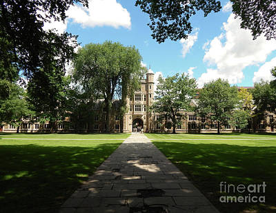 Photograph - University Of Michigan Courtyard by Phil Perkins