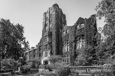 Small Towns Photograph - University Of Michigan Michigan Union by University Icons