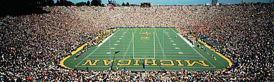 Harvard Photograph - University Of Michigan Stadium, Ann by Panoramic Images