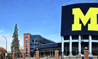 Sports Maze Photograph - University Of Michigan Stadium by Pat Cook