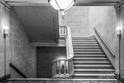 Photograph - University Of Minnesota Smith Hall Staircase by University Icons