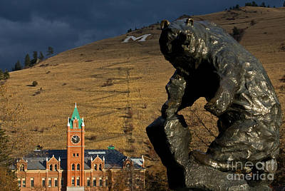 University Of Montana Icons Art Print by Katie LaSalle-Lowery