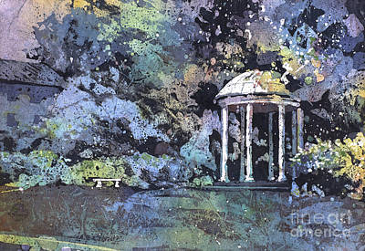 Painting - University Of North Carolina Well by Ryan Fox