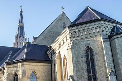 Photograph - University Of Notre Dame Basilica  by John McGraw