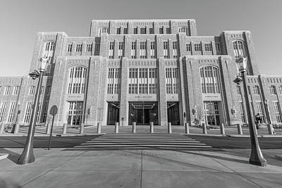 Photograph - University Of Notre Dame Black And White by John McGraw