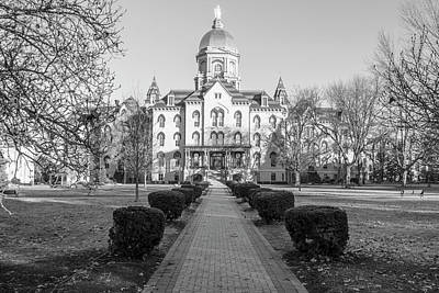 Photograph - University Of Notre Dame Dome With Pathway  by John McGraw