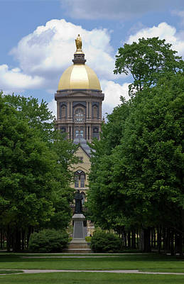 University Of Notre Dame Golden Dome Art Print