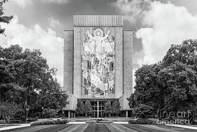 Of Indiana Photograph - University Of Notre Dame Hesburgh Library by University Icons
