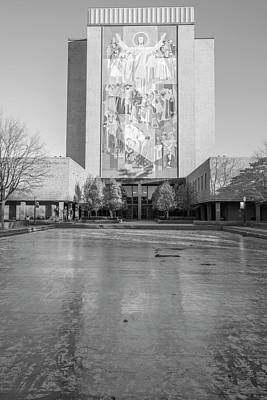 Photograph - University Of Notre Dame Library 2 by John McGraw