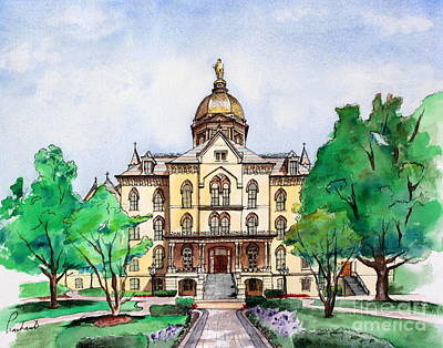Painting - University Of Notre Dame by Prashant Shah