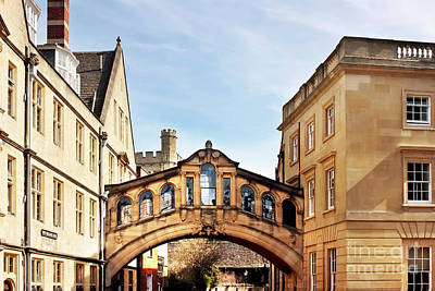 Photograph - University Of Oxford, The Bridge Of Sighs  by Terri Waters