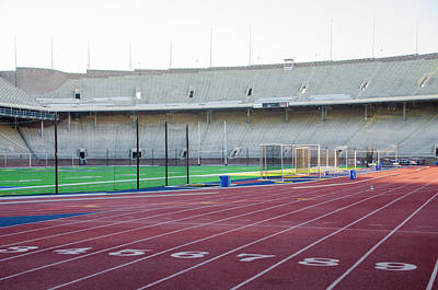 Philadelphia Phillies Stadium Photograph - University Of Penn Franklin Field Track by Bill Cannon