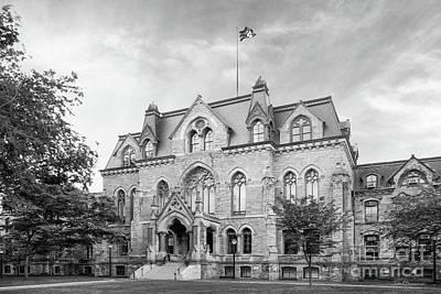 University Of Pennsylvania College Hall Art Print by University Icons