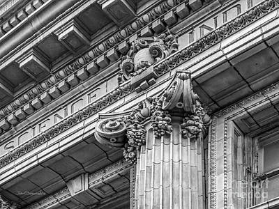 Quaker Photograph - University Of Pennsylvania Column Detail by University Icons