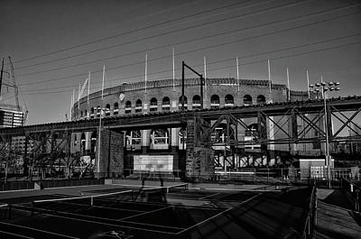 Photograph - University Of Pennsylvania - Franklin Field In Black And White by Bill Cannon