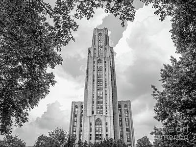 Big East Conference Photograph - University Of Pittsburgh Cathedral Of Learning Front by University Icons