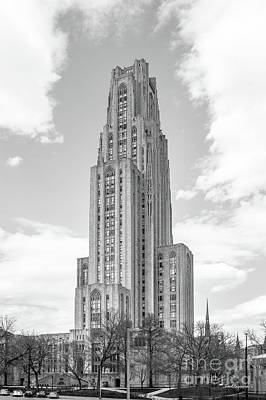 University Of Pittsburgh Cathedral Of Learning Art Print by University Icons