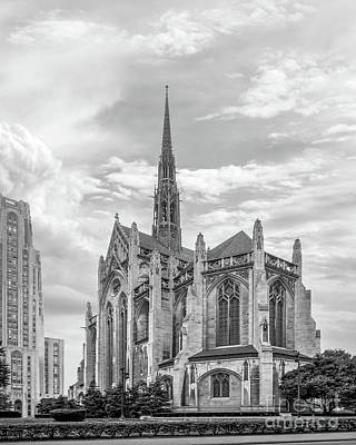 University Of Pittsburgh Heinz Memorial Chapel Art Print by University Icons