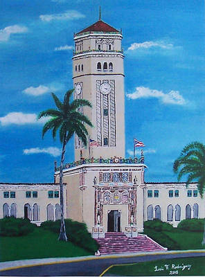 University Of Puerto Rico Tower Art Print by Luis F Rodriguez