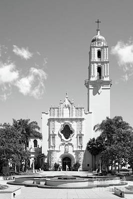 Missions San Diego Photograph - University Of San Diego The Church Of The Immaculata by University Icons