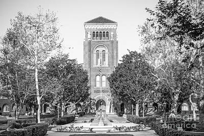 University Of Southern California Admin Building Art Print by University Icons