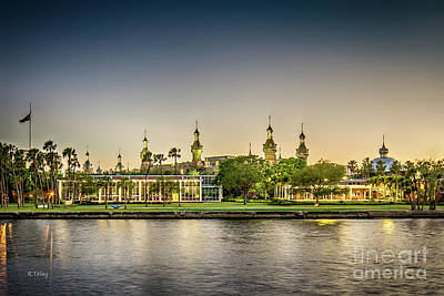 Photograph - University Of Tampa At Dusk by Rene Triay Photography