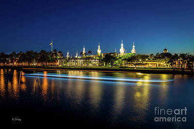 Photograph - University Of Tampa The Blue Hour by Rene Triay Photography