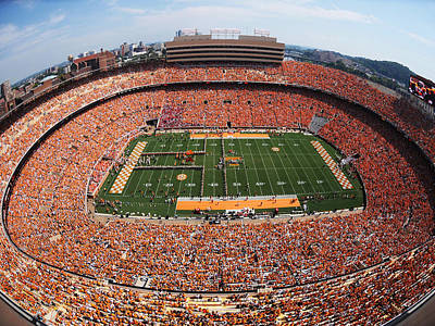 University Of Tennessee Neyland Stadium Art Print