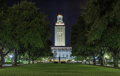 Photograph - University Of Texas Tower by Tim Stanley