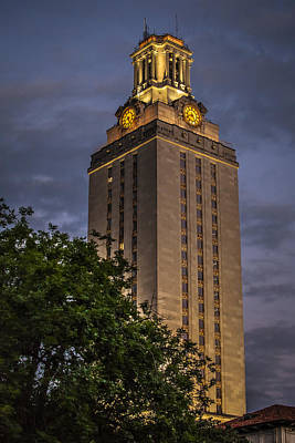 Photograph - University Of Texas Tower by Van Sutherland