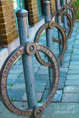 Photograph - University Of Toronto Bike Posts by Nina Silver