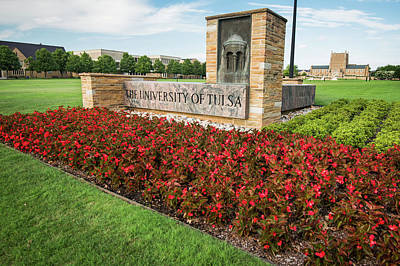 Oklahoma University Wall Art - Photograph - University Of Tulsa Landscape by Gregory Ballos