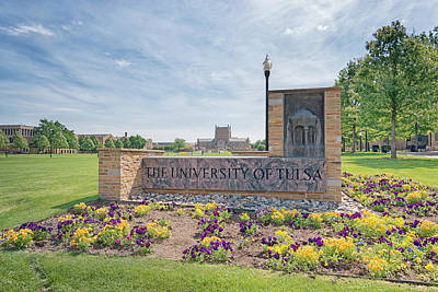 Oklahoma University Wall Art - Photograph - University Of Tulsa Mcfarlin Library by Roberta Peake
